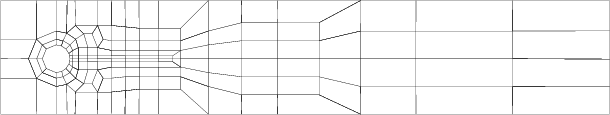 Example of a coarse mesh and the number of degrees of freedom for refined levels